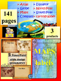 Maps and Globes Editable Template Classroom Decor distance