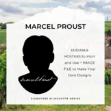 MARCEL PROUST Signature Silhouette Posters