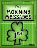 1st Grade March Morning Messages
