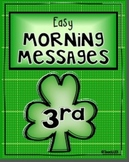 3rd Grade March Morning Messages