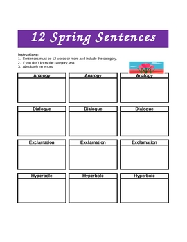 MARCH - 5 Wksts using 15 Types of Sentences - Common Core Practice