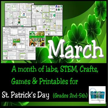 MARCH: A Month of Labs, STEM, Crafts, Games, & Printables