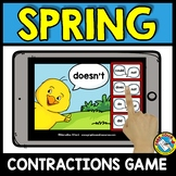 SPRING ACTIVITIES 1ST GRADE (MAY GRAMMAR) CONTRACTIONS BOOM CARDS