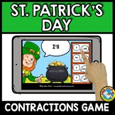 MARCH ACTIVITIES 1ST GRADE (ST PATRICKS DAY GRAMMAR) CONTRACTIONS BOOM CARDS