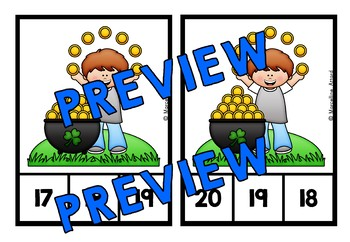 MARCH ACTIVITIES KINDERGARTEN (ST PATRICKS DAY COUNTING CENTERS) NUMBERS 1-20