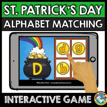MARCH ALPHABET LETTERS (ST PATRICKS DAY ACTIVITY KINDERGARTEN) BOOM CARDS ELA