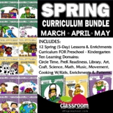 MARCH - APRIL - MAY - 12 LESSON PLANS PreK Kinder Curricul