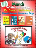 MARCH - Dr. Seuss Read Across America - Write the Room - EASY & EDITABLE