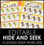 MARCH EDITABLE - Hide and Seek 12 Different Sight Word Sets