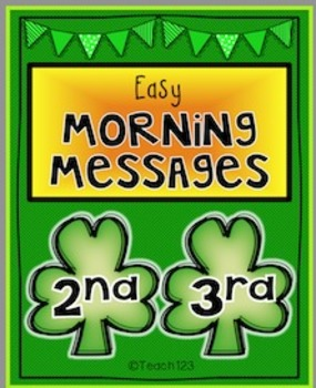 March Morning Messages RF.2.3, RF.2.4, L.2.2  RF.3,3 RF.3.4, and L.3.2