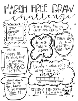 March Free Draw Challenge By Jessica Page Teachers Pay Teachers