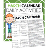 MARCH Fine Motor/Visual Motor (Daily Activities)