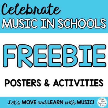 FREEBIE: MIOSM March is Music in Our Schools Month Posters