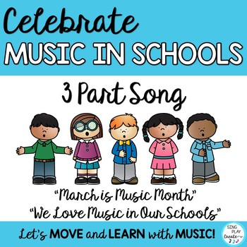 """FREEBIE MIOSM: """"March is Music in Our Schools Month"""" SSA ACAPELLA"""