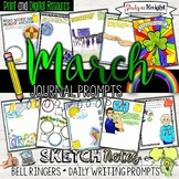 March Journal Prompts, Bell Ringers, Spring Activities, St. Patrick's Day