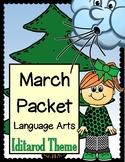 MARCH Language Arts Activity Packet {Iditarod theme}