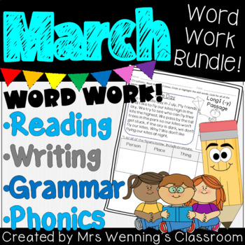 MARCH Lesson Plans, Activities & Word Work!
