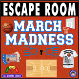 MARCH MADNESS ESCAPE ROOM ~Basketball & NCAA Tourney Breakout~All Digital Locks~