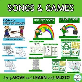 March Music Class Bundle: Songs, Games, Worksheets, and Lessons K-6