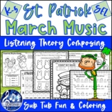 MARCH MUSIC & Spring No-Prep MIOSM Activities - St. Patrick's Day, Easter Fun!