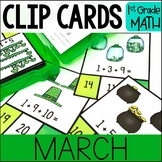 MARCH Math Centers - Clip Card Task Boxes
