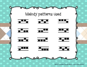 MARCH Melody Races--a game to practice melodic notation {sol mi}