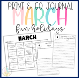 MARCH: Monthly PRINT & GO Foldable Writing Journals: Obscu