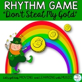 "MUSIC RHYTHM GAME: ""Don't Steal My Gold""  Note and Rest Values"