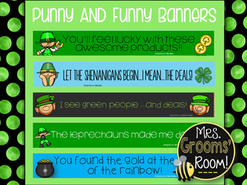 MARCH'S PUNNY AND FUNNY TPT BANNERS