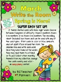 MARCH - SPRING IS HERE! - Write the Room - Sight Words - E