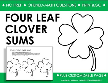 MARCH/ST. PATRICK'S OPEN-ENDED MATH ACTIVITY