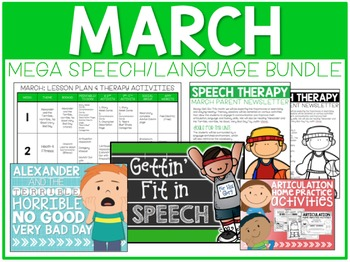 March: Speech/Language Bundle