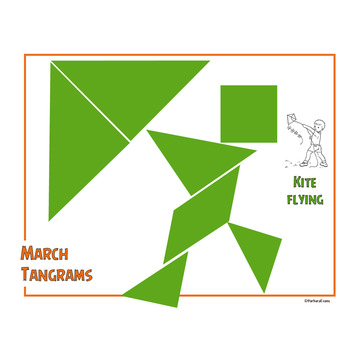 MARCH TANGRAM PUZZLES  St. Patrick's Day Math Center Critical Thinking