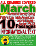EASTER SPRING ST PATRICK DAYLIGHT SAVINGS CLOSE READING 5 LEVEL PASSAGES