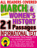 MARCH SPRING WOMEN'S HISTORY ST PATRICK EASTER & MORE 21 Leveled Passages