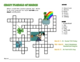 MARCH Themed Plurals Crossword Puzzle