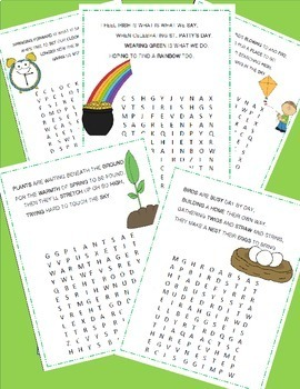 March Poetry, Word Searches, Spring Theme, March Activities, Original Poetry