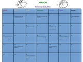MARCH at-home activities