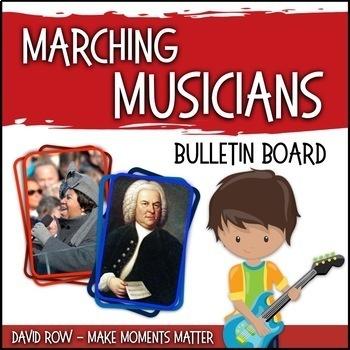MARCHing Musicians! -- Music Bulletin Board Set