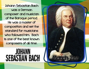 MARCHing Musicians! - Musician and Composer of the Month Music Bulletin Board
