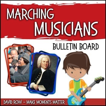 MARCHing Musicians! -- Music Bulletin Board Set