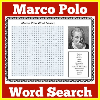 MARCO POLO ACTIVITY ( WORD SEARCH)