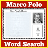 Early Explorers | Marco Polo Word Search | Explorers Worksheet