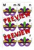 MARDI GRAS ACTIVITIES KINDERGARTEN, PRESCHOOL (ALPHABET LETTERS MATCH UP GAME)
