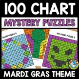 MARDI GRAS ACTIVITY KINDERGARTEN (100 CHART MYSTERY PICTUR