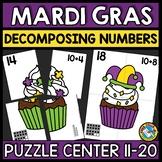 MARDI GRAS ACTIVITY MATH ADDITION (DECOMPOSING TEEN NUMBER KINDERGARTEN CENTER)
