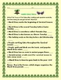 MARDI GRAS ACTIVITY: TRIVIA