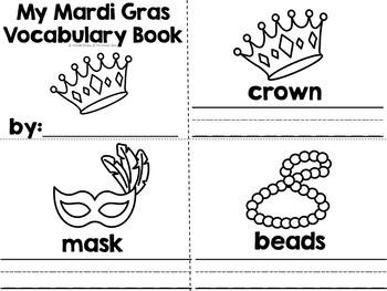 MARDI GRAS BUNDLE ~ Vocabulary, Task Cards, & Math & Literacy Centers