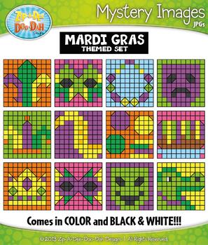 MARDI GRAS Mystery Images Clipart {Zip-A-Dee-Doo-Dah Designs}