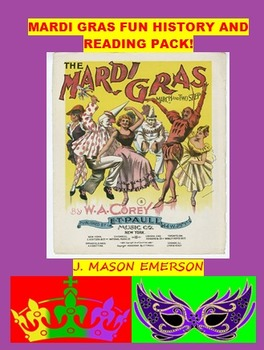 MARDI GRAS FUN HISTORY AND  READING PACK! (COMMON CORE, 32 PP)